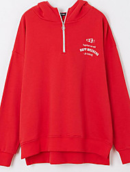 cheap -Women's Active Hoodie - Solid Colored