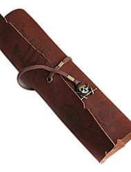 Недорогие -ретро старинные пиратский рулон вверх кожаная сумка ручка карандаш кейс карта сокровищ