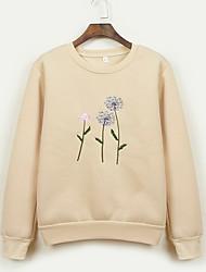billige -Dame langærmet sweatshirt - blomstret rundt hals