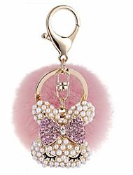 abordables -Rabbit Porte-clés Gris / Rose dragée clair / Bleu royal Forme Géométrique, Animal Zircon, Fourrure de Lapin, Alliage Doux, Mode Pour Cadeau / Rendez-vous