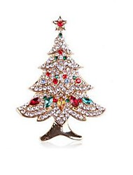 cheap -Women's Classic / Stylish Brooches - Christmas Tree Stylish, Classic, Sweet Brooch Gold For Daily / Festival