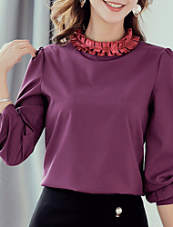 cheap -Women's Work Blouse - Solid Colored