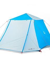 Недорогие -Naturehike 6 человек Семейный кемпинг-палатка На открытом воздухе С защитой от ветра, Легкость, Дожденепроницаемый Двухслойные зонты Карниза Палатка Двухкомнатная 2000-3000 mm для