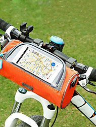 economico -Bag Cell Phone / Sacca da manubrio bici 6 pollice Schermo touch Ciclismo per Ciclismo Arancione