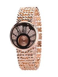 Недорогие -Жен. Часы-браслет Наручные часы Кварцевый Серебристый металл / Золотистый / Розовое золото Новый дизайн Повседневные часы Имитация Алмазный Аналоговый Дамы Мода Элегантный стиль -  / Один год
