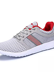 cheap -Men's Comfort Shoes Mesh / Elastic Fabric Fall Athletic Shoes Running Shoes Color Block Black / Dark Grey / Light Grey