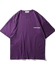 billige -mænds t-shirt - brev rundt hals