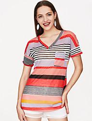billige -Dame - Ensfarvet Bomuld Aktiv T-shirt