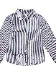 cheap -Kids Girls' Active Striped / Print Long Sleeve Cotton Shirt