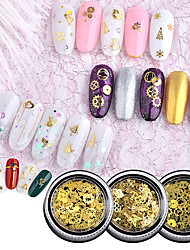 cheap -1 / box Fashionable Design / Luminous Moon Star nail art Manicure Pedicure Mixed Material / Alloy Glitters / Retro Wedding Party / Daily Wear