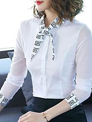 Недорогие -женская блузка - сплошная цветная шея