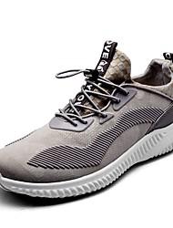 Недорогие -Универсальные Хлопок Осень Удобная обувь Спортивная обувь Беговая обувь На плоской подошве Круглый носок Серый / Пурпурный / Красный