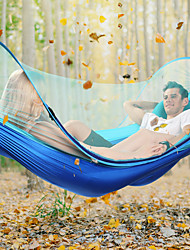 cheap -Camping Hammock with Mosquito Net Outdoor Lightweight High Density Ripstop for Hiking / Camping - 2 person Dark Blue / Dark Green