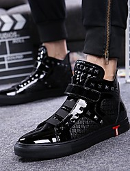 abordables -Homme Chaussures de nouveauté Cuir Automne / Hiver British Basket Noir / Argent