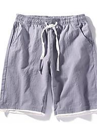 economico -Per uomo Cotone / Lino Jeans Pantaloni - Tinta unita