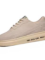 abordables -Homme Chaussures de confort Croûte de Cuir / Polyuréthane Automne Décontracté Basket Augmenter la hauteur Couleur Pleine Noir / Beige / Rouge