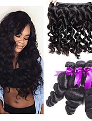 tanie -3 zestawy Włosy brazylijskie Luźne fale 8A Włosy naturalne Doczepy z naturalnych włosów 8-24 in Ludzkie włosy wyplata Najwyższa jakość Nowości Gorąca wyprzedaż Ludzkich włosów rozszerzeniach Damskie