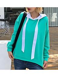 billige -Dame Basale Løstsiddende Aktiv beklædning sæt - Ensfarvet / Farveblok Bomuld