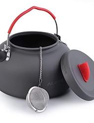 Недорогие -ALOCS Походный чайник Походный чайник для кофе На открытом воздухе 1 Легкость Зимние виды спорта Катание вне трассы Нержавеющая сталь Алюминиевый сплав Алюминий на открытом воздухе за