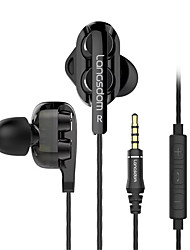 cheap -langsdom C4D In Ear Cable Headphones Earphone / Gaming Earphone Stereo / with Microphone / with Volume Control Headset