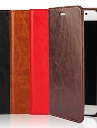 Недорогие -Кейс для Назначение SSamsung Galaxy S9 / S8 / S7 edge Кошелек / Бумажник для карт / со стендом Чехол Однотонный Твердый Настоящая кожа
