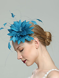 cheap -Feathers Fascinators with Solid 1pc Wedding / Special Occasion Headpiece
