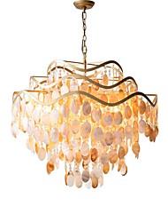 Недорогие -QIHengZhaoMing 6-Light Люстры и лампы Рассеянное освещение Окрашенные отделки Металл Оболочка 110-120Вольт / 220-240Вольт Теплый белый Лампочки включены