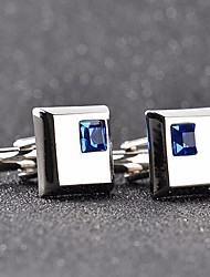 cheap -Cubic Silver / Blue Cufflinks Copper Casual / Fashion Men's Costume Jewelry For Formal / Date