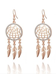 abordables -Femme Cristal Spiga Boucles d'oreille goutte - Luxe, Classique, Vacances Or / Argent / Or Rose Pour Bikini