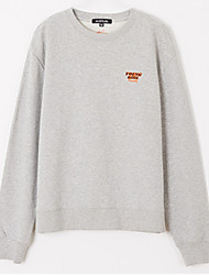 cheap -women's going out long sleeve slim sweatshirt - letter round neck