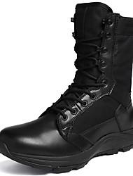Недорогие -Жен. Обувь Полотно / Синтетика Наступила зима Удобная обувь Спортивная обувь Для пешеходного туризма На плоской подошве Черный