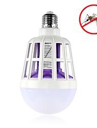 Недорогие -1шт 15 W 600 lm E26 / E27 Круглые LED лампы 24 Светодиодные бусины SMD 5630 Декоративная / Насекомое Москито Fly Killer Белый 175-265 V