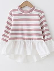preiswerte -Kinder Mädchen Einfarbig Langarm Bluse