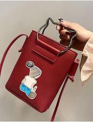 baratos -Mulheres Bolsas PU Telefone Móvel Bag Botões Rosa / Cinzento / Marron