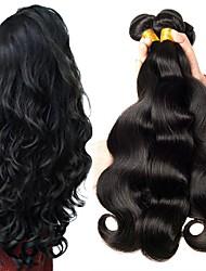 Недорогие -6 Связок Перуанские волосы Волнистый 8A Натуральные волосы Человека ткет Волосы Пучок волос One Pack Solution 8-28 дюймовый Естественный цвет Ткет человеческих волос