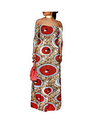 cheap -Women's Basic Tunic Dress - Geometric Print
