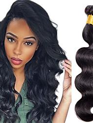Недорогие -1 комплект Индийские волосы Естественные кудри Классика 10A человеческие волосы Remy Натуральные волосы Человека ткет Волосы Ткет человеческих волос Расширения человеческих волос