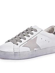 economico -Per donna Scarpe Nappa Primavera / Estate Comoda Sneakers Piatto Punta chiusa Oro / Nero / Argento