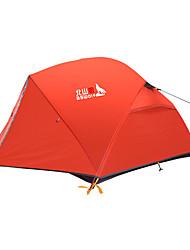 Недорогие -BSwolf 2 человека Семейный кемпинг-палатка Двухслойные зонты Карниза Палатка На открытом воздухе Дожденепроницаемый, Воздухопроницаемость для Рыбалка / Восхождение / Походы / туризм / спелеология