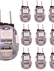 Недорогие -1w g4 светодиодная двухконтактная лампочка 5 smd 5050 для домашнего освещения rv car warm / cold white / bule / yellow / red / green декоративная лампа (10 шт)