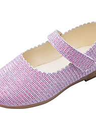 cheap -Girls' Shoes PU(Polyurethane) Spring & Summer Comfort / Flower Girl Shoes Flats Walking Shoes for Teenager Gold / Silver / Purple