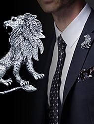 abordables -Homme Le style rétro / Stylé Broche - Lion Rétro, Mode, British Broche Or / Argent Pour Quotidien / Vacances