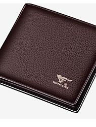 Недорогие -Муж. Мешки PU Бумажники Однотонные Черный / Коричневый