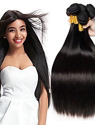 billige -4 pakker Peruviansk hår Lige Menneskehår Menneskehår, Bølget / Bundle Hair / Én Pack Solution 8-28 inch Menneskehår Vævninger Maskinproduceret Bedste kvalitet / Hot Salg / 100% Jomfru Naturlig