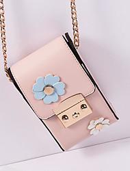 Недорогие -Жен. Мешки PU Мобильный телефон сумка Аппликации Синий / Черный / Розовый