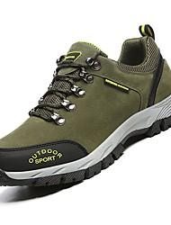 Недорогие -Муж. Комфортная обувь Полиуретан Осень Спортивная обувь Для пешеходного туризма Коричневый / Темно-серый / Военно-зеленный