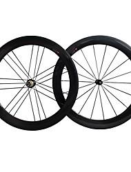 baratos -NEASTY 700CC Conjuntos de Rodas Ciclismo 23 mm / 25 mm Bicicleta de Estrada Carbono / Fibra de carbono Com Tubo 18/21 Raios 50 mm