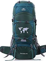 Недорогие -80 L Заплечный рюкзак - Пригодно для носки, Воздухопроницаемость На открытом воздухе Пешеходный туризм, Восхождение, Лыжи Нейлон Оранжевый, Естественно-зеленный, Темно-зеленый