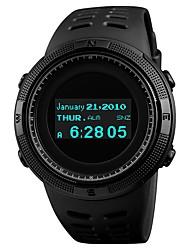 Недорогие -SKMEI Муж. Для пары Спортивные часы Цифровой Черный 50 m Защита от влаги Bluetooth Календарь Цифровой Роскошь Мода - Красный Синий Золотистый / Компас / Хронометр