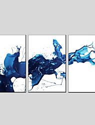 Недорогие -С картинкой Растянутый холст - Абстракция Modern 3 панели